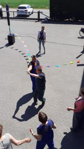 Nick samen met Anita dansen